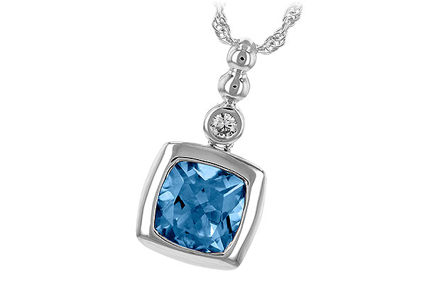 A189-32492: NECK 1.45 BLUE TOPAZ 1.49 TGW