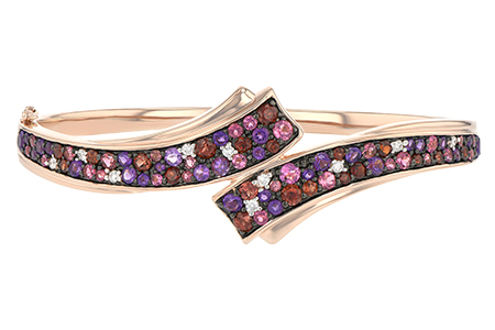C188-43410: BANGLE 3.12 MULTI-COLOR 3.30 TGW (AMY,GT,PT)