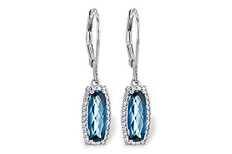 C190-24301: EARR 2.10 LONDON BLUE TOPAZ 2.28 TGW