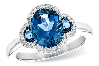 C190-24328: LDS RG 3.04 TW LONDON BLUE TOPAZ 3.20 TGW