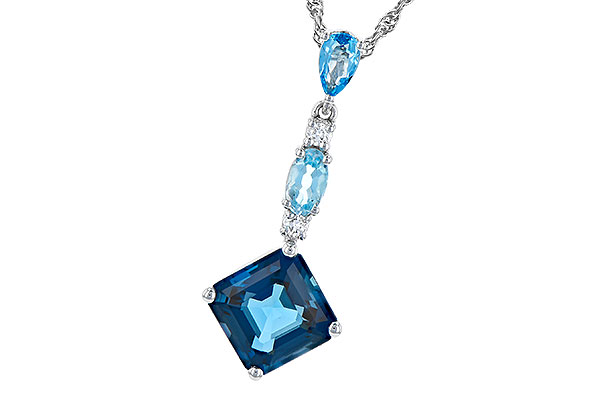D272-94310: NECK 2.95 TW BLUE TOPAZ 3.00 TGW