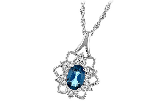 E189-34283: NECK .47 BLUE TOPAZ .56 TGW