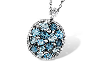 F187-49801: NECK 3.12 BLUE TOPAZ 3.41 TGW