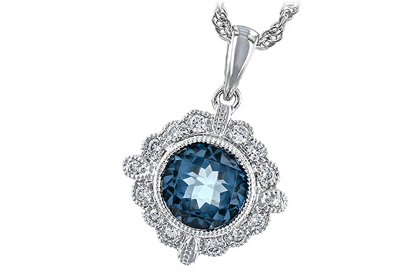 F189-30683: NECK .98 BLUE TOPAZ 1.10 TGW