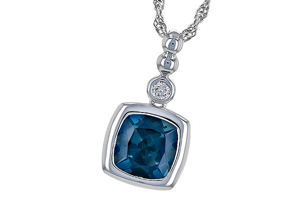 F190-21555: NECK 1.50 LONDON BLUE TOPAZ 1.54 TGW