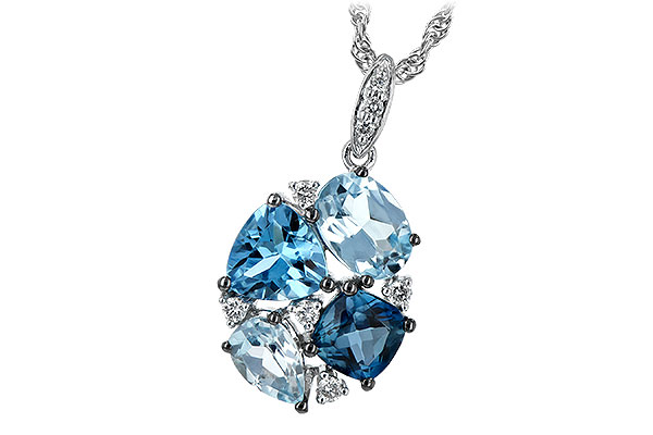 G189-28819: NECK 2.60 BLUE TOPAZ 2.70 TGW