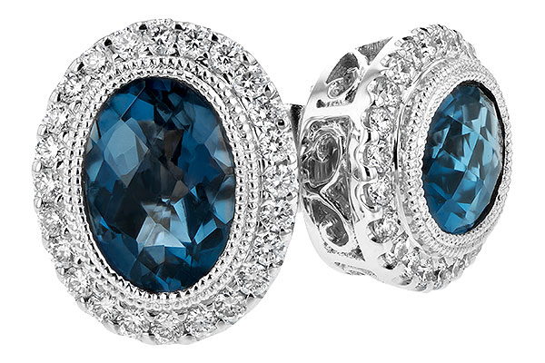 K189-28828: EARR 1.76 LONDON BLUE TOPAZ 2.01 TGW