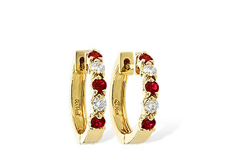 A001-12474: EARRINGS .33 RUBY .52 TGW