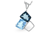 A188-43392: NECK 10.60 BLUE TOPAZ 10.73 TGW