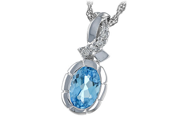 A189-29774: NECK .85 BLUE TOPAZ .90 TW