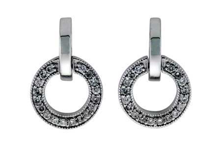 B184-77010: EARRINGS .40 TW