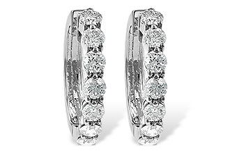 B185-67019: EARRINGS 2 CT TW