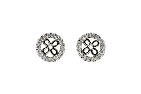B187-49738: EARRING JACKETS .24 TW (FOR 0.75-1.00 CT TW STUDS)