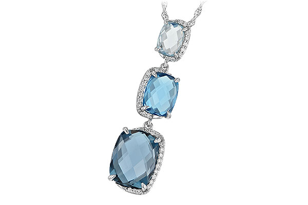 B188-43419: NECK 8.71 BLUE TOPAZ 8.89 TGW