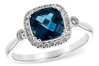 B189-28838: LDS RG 1.62 LONDON BLUE TOPAZ 1.78 TGW