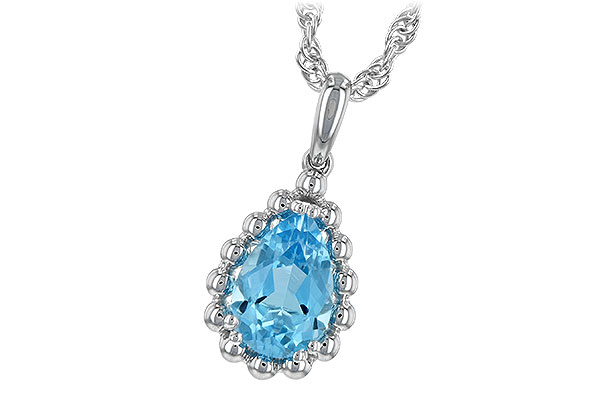 B189-31619: NECKLACE 1.55 CT BLUE TOPAZ