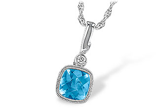 C186-61583: NECK 1.03 BLUE TOPAZ 1.05 TGW