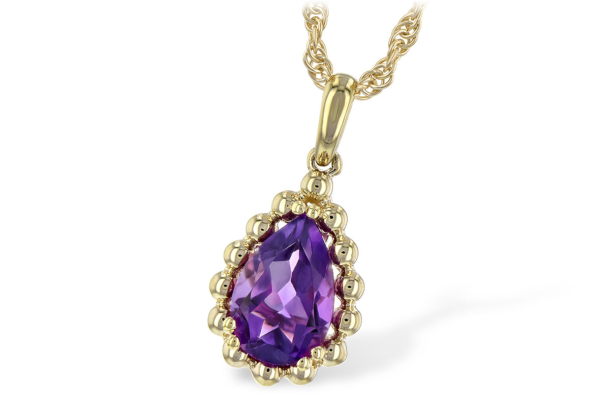 C189-31610: NECKLACE 1.06 CT AMETHYST