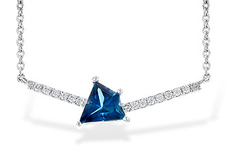 C190-25192: NECK .87 LONDON BLUE TOPAZ .95 TGW