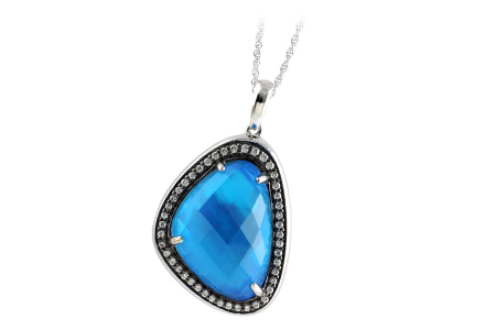 D187-47974: NECK 11.99 BLUE TOPAZ 12.19 TGW