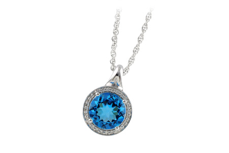 D187-48901: NECK 3.87 BLUE TOPAZ 4.01 TGW
