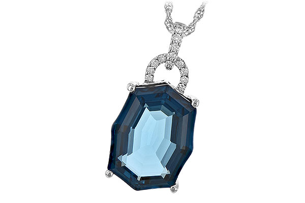 D189-36174: NECK 11.75 LONDON BLUE TOPAZ 11.85 TGW
