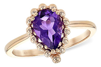 E189-31610: LDS RING 1.06 CT AMETHYST
