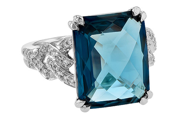 E190-18883: LDS RG 9.40 LONDON BLUE TOPAZ 9.60 TGW