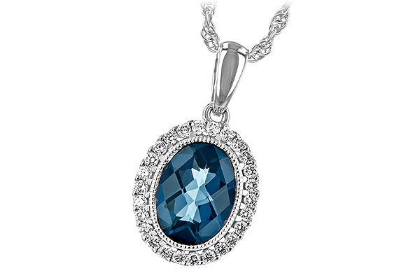 H189-28828: NECK 1.28 LONDON BLUE TOPAZ 1.41 TGW