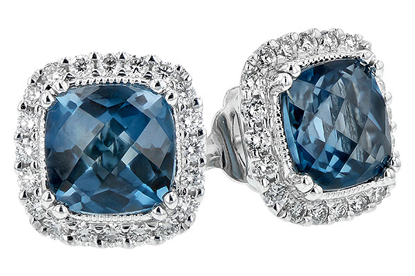 H189-28837: EARR 2.14 LONDON BLUE TOPAZ 2.40 TGW