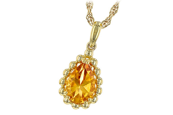 H189-31610: NECKLACE 1.06 CT CITRINE