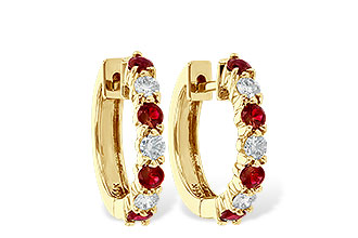K001-12473: EARRINGS .64 RUBY 1.05 TGW