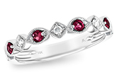 K092-93401: LDS WED RG .20 RUBY .26 TGW