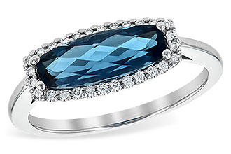 K190-23437: LDS RG 1.79 LONDON BLUE TOPAZ 1.90 TGW