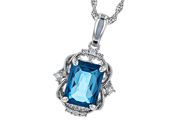 K272-94301: NECK 1.68 LONDON BLUE TOPAZ 1.73 TGW