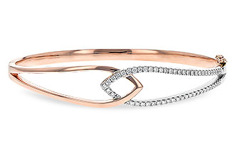 L189-35255: BANGLE BRACELET .50 TW (ROSE & WG)