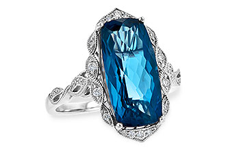 L190-19728: LDS RG 6.75 LONDON BLUE TOPAZ 6.90 TGW