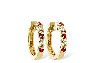M001-12473: EARRINGS .17 RUBY .26 TGW