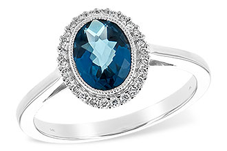 M189-28837: LDS RG 1.27 LONDON BLUE TOPAZ 1.42 TGW