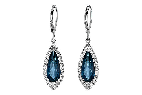 M190-19728: EARR 5.05 LONDON BLUE TOPAZ 5.42 TGW