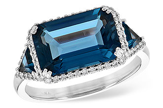 M190-20673: LDS RG 4.60 TW LONDON BLUE TOPAZ 4.82 TGW